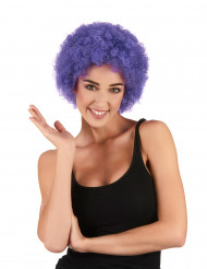 Image of Parrucca afro/clown viola standard per adulto