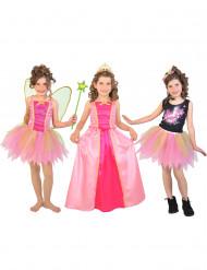 Costume 3 in 1 fata principessa popstar Bambina con cofanetto