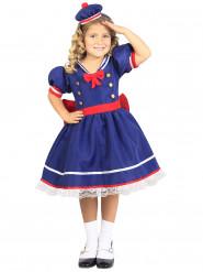 Costume da marinaretta blu e rosso per bambina
