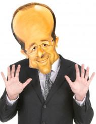 Maschera di cartone François Hollande adulto