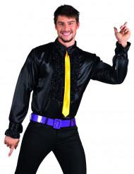 Camicia disco nera per uomo