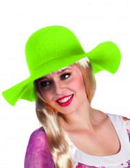 "Cappello ""floscio"" verde acido donna"