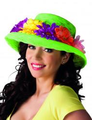 Cappello hawaiano con fiori