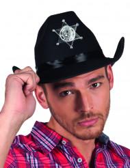 Cappello nero sceriffo adulto