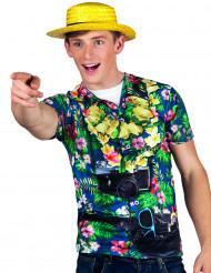 T-shirt turista hawaiano uomo