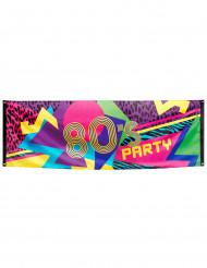 Striscione di stoffa 80's party