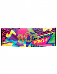 Striscione di stoffa 80's party