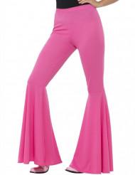 Pantalone disco rosa donna