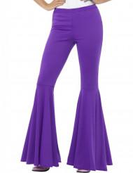 Pantalone disco viola donna