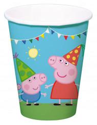 8 bicchieri di cartone Peppa Pig™
