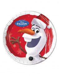 8 piatti di cartone Olaf Christmas ™