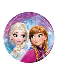 Confezione di 8 piatti in cartone Elsa Frozen™