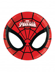 8 piattini di cartone Ultimate Spiderman™ Marvel