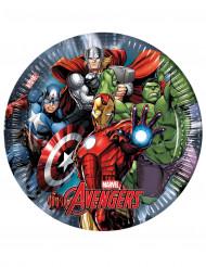 8 piatti di cartone Avengers Power™ 23 cm