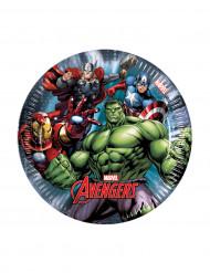 8 piccoli piatti Avengers Power™ 19.5cm