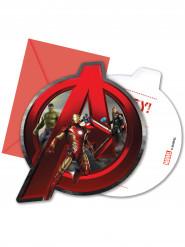 6 Cartoncini d'invito con busta Avengers - Age of Ultron™