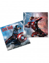 20 tovaglioli di carta i Captain America Civil War™