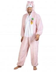 Costume da coniglio rosa per adulto