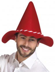 Cappello bavarese rosso da uomo