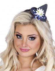 Mini cappello con fiori baverese donna
