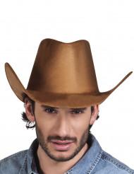 Cappello cowboy far west marrone adulto