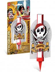 Candela di compleanno da pirata con fiamma