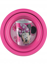Set di stoviglie in plastica rosa Minnie™