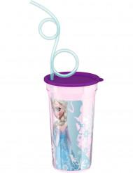 Bicchiere con cannuccia Frozen-Il regno di ghiaccio™