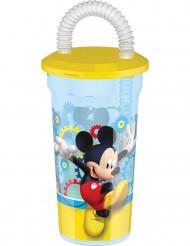 Bicchiere di plastica con cannuccia di Topolino™