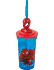Bicchiere di plastica con cannuccia di Spiderman™