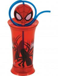 Bicchiere di plastica con cannuccia Spiderman™