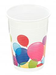 10 Bicchieri di plastica Palloncini Colorati