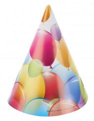 6 Cappellini per la festa palloncini colorati