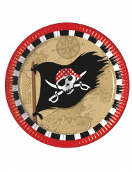8 piatti di carta il tesoro dei pirati