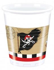 8 bicchieri di plastica Pirata