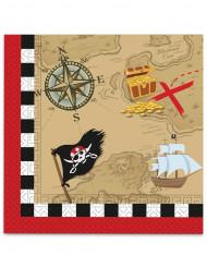 20 tovaglioli di carta pirati