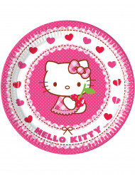 8 Piattini di carta Hello Kitty™