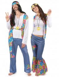 Costume coppia hippie tipo jeans adulto