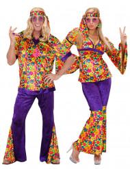 Costume coppia hippie adulto