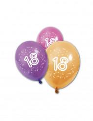 8 palloncini 18 anni compleanno