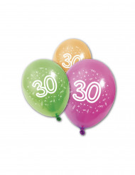 8 palloncini in lattice 30 anni