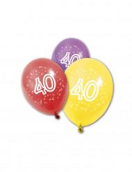 8 palloncini compelanno 40