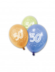 8 palloncini in lattice 50 anni