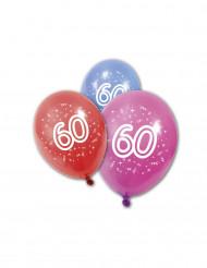 8 palloncini compleanno 60 anni
