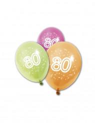 8 palloncini 80 anni