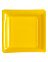 12 piatti giali quadrati