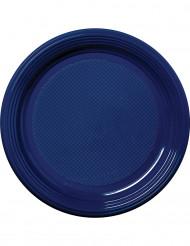 30 piatti di plastica blu