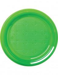 30 piatti di plastica verdi