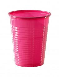 50 bicchieri di plastica fucsia