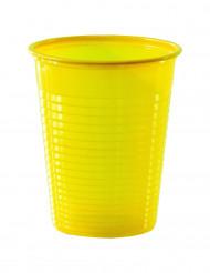 50 bicchieri di plastica gialli